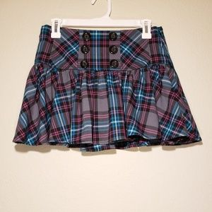 Candie's Plaid Mini Skirt